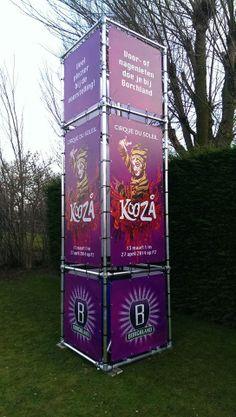 Torenframe met het prachtige beeldmateriaal van Cirque du Soleil.