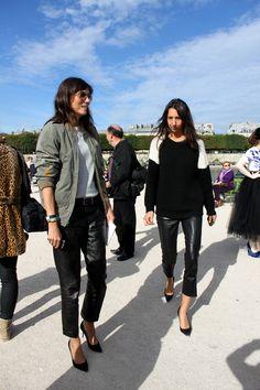 Emmanuelle Alt and Geraldine Saglio - Paris Fashion Week.
