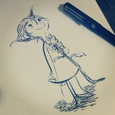 And now my favorite, the Pentel Brush Pen. I use this for most of my sketches now. #ink #originalcharacter #doodle
