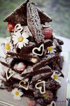 Handmade white chocolate hearts to decorate cake!