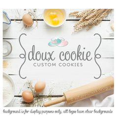 premade logo  cookie logo  bakery logo design  by autumnscreek