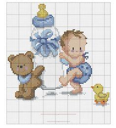 Baby and teddy bear x-stitch Baby Cross Stitch Patterns, Cross Stitch For Kids, Cross Stitch Baby, Hand Embroidery Patterns, Cross Stitch Charts, Cross Stitch Designs, Cross Stitching, Cross Stitch Embroidery, Needlepoint Designs