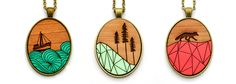 laser cut wooden jewelry - Google Search                                                                                                                                                     More