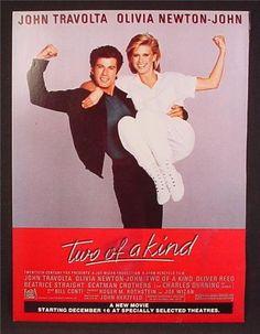 two of a kind movie with olivia newton john | Magazine Ad For Two Of A Kind Movie, John Travolta, Olivia Newton John ...