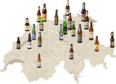 Swiss beermap, courtesy Coop.