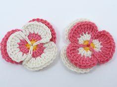 Flor de Crochê Receita Amor - Perfeito Pétalas -  /    Crocheted Flower Recipe Love - Perfect Petals -