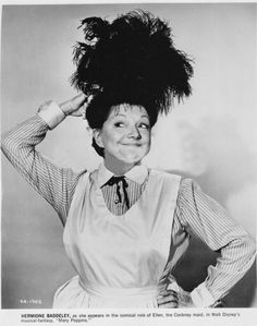 Publicity still of Hermione Baddeley from Mary Poppins, 1964