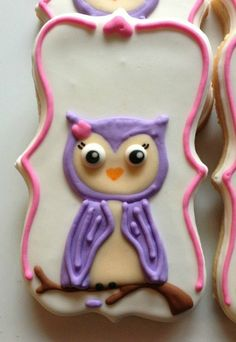 Sweet Little Owl Custom Cookies