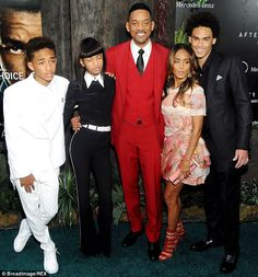 f2713876b4d32 Jaden Smith Willow Smith Will Smith Jada Pinkett Smith and Trey Smith  attend the  After Earth  premiere at Ziegfeld Theater on May 29 2013 in New.