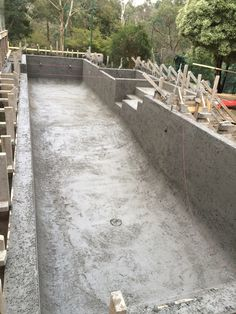lap pool and spa combination built out of ground