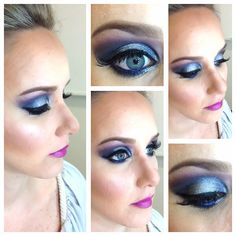 Blue, Purple and Silver Makeup
