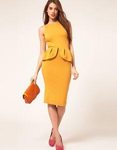 ASOS Peplum Dress With Zip Back