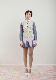 Dripping Dress – WND.LND I Scream, Catwalk Fashion, Pink Silk, Strange People, News Design, Housewife, Bodice, Runway Fashion, Stay At Home Mom