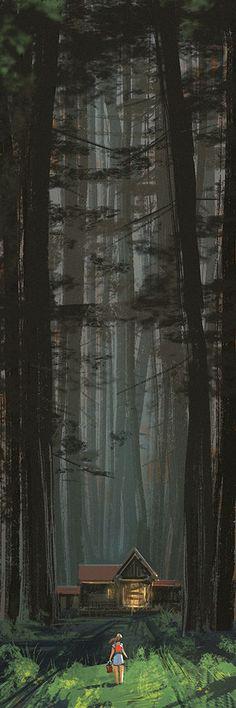 ArtStation - entering the forest, Gui Guimaraes via cgpin.com