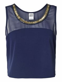 NICE BEAD CROP TOP VERO MODA Holiday Countdown contest. Pin to win the style!
