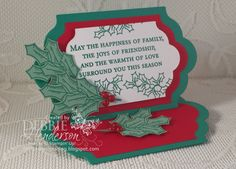 a blog about stampin up creative projects paper crafting cards scrapbooking stampin' up! demonstrator maine debbie henderson debbie's designs - su - cHRISTMAS - Holly Berry Happiness
