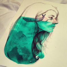 Llorar mares y que se te queden dentro · Una ilustración de Paula Bonet http://gnomo.eu/collections/paula-bonet/products/lamina-paula-bonet-ballena