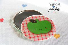• M a d a m e • R h u b a r b e | illustration | graphisme • pocket mirror // miroir de poche