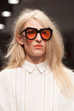 15 Accessory Trends To Update Your Look #refinery29  http://www.refinery29.com/accessory-trends#slide-17  Transparent-Lensed Plastic Shades Karen Walker....