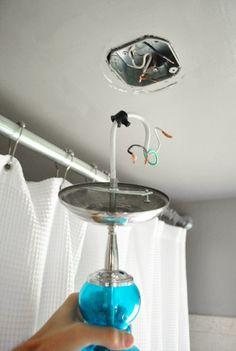 Bathroom Light Fixture Move new nautical dining room light fixture - diy stepssuper easy to
