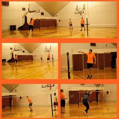 When the students are away, BC Rec staff will play....badminton... #BCSpringBreak