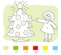 CHRISTMAS MUSIC & COLORING: 12 Days of Christmas Song and Free Printable Color By Number Christmas Tree!