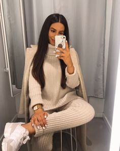 Trend and Stylish! 15 Combination of Knit Suit For Winter Trend and Stylish! 15 Combination of Knit Suit For Winter FASHIONFEZT fashionfeztcom Women Fashion Winter Fashion Outfits, Fall Winter Outfits, Autumn Fashion, Casual Winter, Co Ords Outfits, Mode Outfits, Pastel Outfit, Fashion Mode, Look Fashion