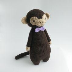 Tall Monkey With Bowtie Amigurumi Pattern