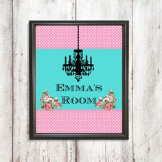 Personalized Shabby Chic Nursery Print Digital by PixelPixieDesign
