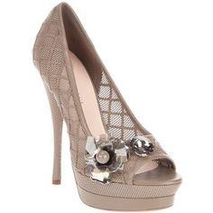 VERSACE Flower detail shoe