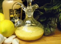 Lemon Garlic Dijon Vinaigrette--This is my FAVORITE go-to salad dressing! It's yummy & good for you! Use GF dijon mustard Lemon Vinaigrette, Vinaigrette Dressing, Salad Dressing Recipes, Lemon Garlic Dressing Recipe, Salad Recipes, Salate Warm, Pesto, Sauces, Marinade Sauce