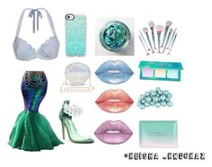 """""""Part Of My World 🐟🐠"""" by keishamoore1986 on Polyvore featuring South Beach, Cape Robbin, Casetify, Lime Crime, Featherella and Fringe"""