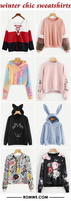 winter chic sweatshirts 2017 - romwe.com