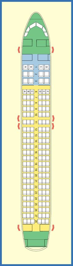 AIR JAMAICA AIRLINES AIRBUS A320 AIRCRAFT SEATING CHART