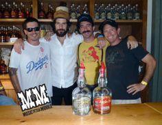 Benjamin, Darian, William and David. The founders of Short Mountain Distillery.