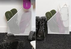 clean shoes in hall and shoe cupboard and keep them in order Source by Web Storage, Shoe Storage, Clean Shoes, Ikea Hack, Home Appliances, Fixation, Halle, Organize, Clever