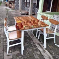 Jual Meja Makan Antik Kayu Jati Utuh Outdoor Tables, Outdoor Decor, Outdoor Furniture Sets, Home Decor, Decoration Home, Room Decor, Interior Design, Home Interiors, Patio Table