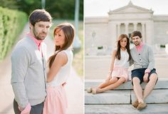 Madeline & Scott's engagement captured on film at the Cleveland Art Museum, by Hunter Photographic.