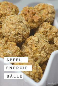 Apfelsnacks als Energiebällchen vegan und gesund ein kinderleichtes Rezept mit Energie für die ganze Familie - nicht so süß, aber dennoch super lecker
