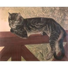 Theophile Alexandre Summer Cat on a Balustrade Giclee Canvas Print Paintings Pos