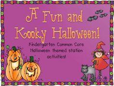 Fun and Kooky Halloween Math and Literacy Stations