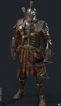 Dungeons And Dragons Characters, Dnd Characters, Fantasy Characters, Medieval Armor, Medieval Fantasy, Fantasy Character Design, Character Art, Mandalorian Armor, Boba Fett Armor