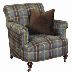 Ralph Lauren Tartan Rooms | Lauren Ralph Lauren Mitchell Place Blue Plaid Cigar Chair
