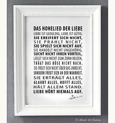 Kunstdruck A4 Das Hohelied der Liebe von ABOUKI Art Factory auf DaWanda.com