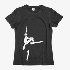 Ballerina shirt  Hand screen print  Women T shirt by smiletee