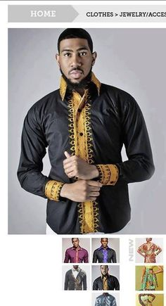Its a man fashion look African Shirts, African Wear, African Style, African Print Fashion, Africa Fashion, Ankara Fashion, Kaftan Men, Gq Style, African Design