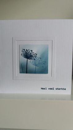 Cool Cards, Diy Cards, Sympathy Cards, Greeting Cards, Dandelion Wish, Watercolor Cards, Watercolour, Stamping Up Cards, Card Making Techniques