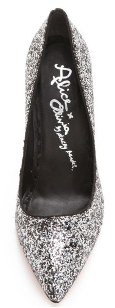 Alice & Olivia glitter pumps  http://rstyle.me/n/dgdg4nyg6