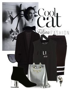 """black cat is a cool cat"" by black-eclipse-red-sky ❤ liked on Polyvore featuring Fendi, No Ka'Oi, Puma, Brian Lichtenberg, Charlotte Olympia, MM6 Maison Margiela and catstyle"