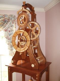 M3 Wood Wheel Clock - by Charles Maxwell @ LumberJocks.com ~ woodworking community